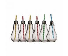6er-Set Trinkglas Glühbirne