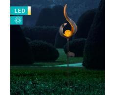 LED-Solarleuchte im Flammendesign