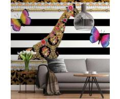 8-teilige Melli Mello Fototapete Giraffe