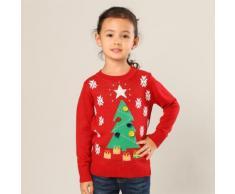 Kinder-Pullover mit Weihnachtsbaum