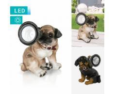 Solarlampe im Hunde-Design
