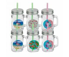 6er-Set Trinkglas Flamingo