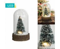 LED-Dekoleuchte Schneekugel mit Tannenbaum