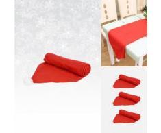 Tischläufer im Weihnachtsmützendesign
