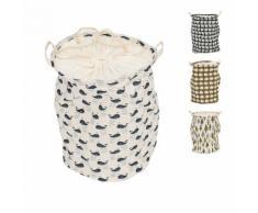 Wäschekorb mit Flora- & Faunaprint