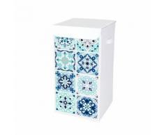 Wäschekorb mit Ornamentprint