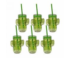 6er-Set Trinkglas Kaktus