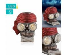 LED-Solarleuchte Totenkopf