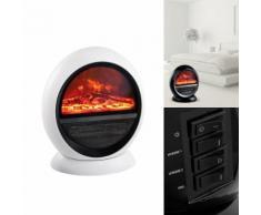 Keramik-Heizkörper mit Flammeneffekt
