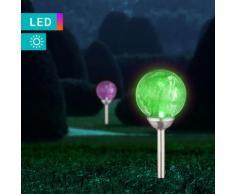 LED-Solarleuchte mit Crackle-Effekt