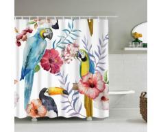 Duschvorhang Papageien