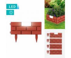 4er-Set Easymaxx Solar-Beetbegrenzung Ziegelmauer