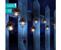 Solarleuchte mit 8 LED-Laternen