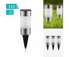 3er-Set LED-Solarleuchte mit Bodenspieß