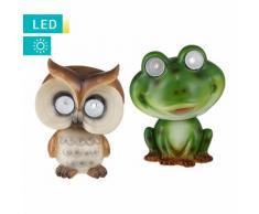 LED-Solarlampe Frosch/Eule
