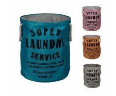Stoff-Wäschekorb mit Spruchprint