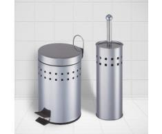 2-teiliges Set Badmülleimer & WC-Bürstenhalter