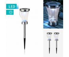 2er-Set 3-in-1-LED-Solarlampe