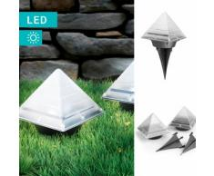 2er-Set Easymaxx Solarleuchte im Pyramidendesign