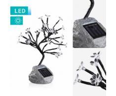LED-Solarlampe Baum mit Blüten