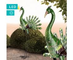 LED-Solarleuchte Stehender Pfau