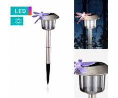 LED-Solarleuchte mit Libellenverzierung