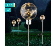 LED-Solarleuchte im Glühbirnendesign