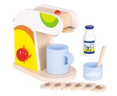 Goki Kaffeemaschine mit Zubehr aus Holz (Bunt) [Kinderspielzeug]