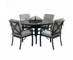 Hartman Jamie Oliver Gartenmöbelset 6-teilig mit Feuerschale und Tisch rund 130cm
