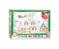EuroGraphics 6111-0917 Farbe Me Santa s Schlitten 100 Teile (Puzzle)
