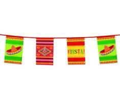 Boland 54401 - Wimpelkette Fiesta, Länge 10 m, Mexiko, Hängedekoration, Girlande, Geburtstag, Partydekoration, Partygeschirr, Motto Party, Karneval