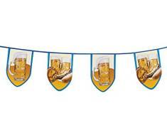 Boland 54251 Wimpelkette Beer Fun, Blau/Weiß