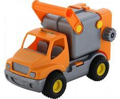 Putzwagen polesie0414 orange ConsTruck Spielzeug Müll LKW