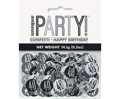 Unique Party 83827 Konfetti, schwarz/silber