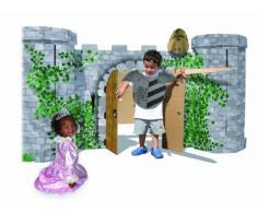 """Spielhaus Ritterburg """"Avalon"""" aus stabilem Karton, detailreich bedruckt, für realistischen Spielspaß, der Fantasie sind keine Grenzen gesetzt, optimal für kleine Ritter und Prinzessinnen ab 3 Jahren"""