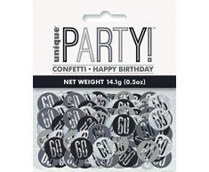 Unique Party 83829 Konfetti, schwarz/silber