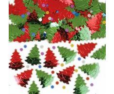 Amscan International 37911 Weihnachtsbaum Konfetti, Rot/Grün, 14 g