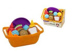 Kidz 439228 Mülleimer mit weichem Lebensmitteln, Mehrfarbig
