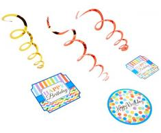 amscan 670471 Bright Birthday Swirl Dekoration Value Pack