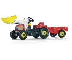 Rolly Toys rollyKid-X Trettraktor mit Anhänger (für Kinder von 2,5 bis 5 Jahren, Heckkupplung) 023127
