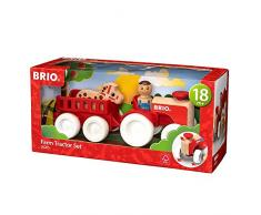 BRIO My Home Town 30265 - Traktor mit Pferde Anhänger, bunt