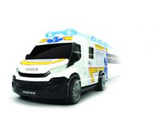 Dickie Toys 203713012 Iveco Daily Ambulance, Spielzeug, Krankenwagen, Rettungswagen, ab 3 Jahren, weiß