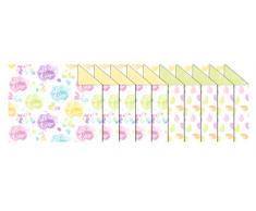 Ursus 11692299 Fotokarton Bunte Ostern, 10 Bogen 300 g/qm ca. 49,5 cm x 68 cm, Sortiert in 2, Frischzellulose, Vorderseite mit Ostereier Motiv, Rückseite einfarbig