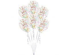 Amscan International 9902937 Latex Balloon-noveltyballoon 6 Stück Konfetti Kit Asst