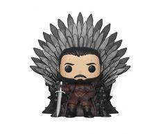Funko 37791 POP Deluxe: Game of S10: Jon Snow Sitting on Iron Throne Sammelbares Spielzeug, Mehrfarben