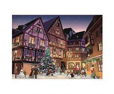Piatnik 5442 - Vintage Weihnachtsdorf 1000 Teile Puzzle