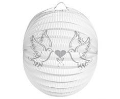 Folat Lampion oder Laterne zur Hochzeit Weiss mit Tauben