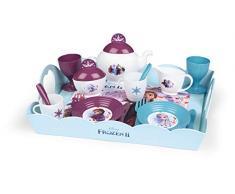 Frozen 2 Serviertablett, Disney Frozen Tablett mit Geschirr, für Kinder ab 3 Jahren