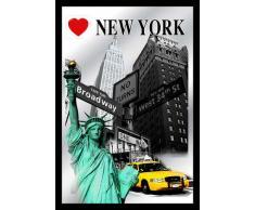 Close Up V829170 I Love New York Highlights Wandspiegel, Schwarz