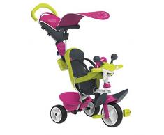 Smoby 741201 Baby Driver Comfort Tricycle Pink Komfort Spielzeug, Rosa